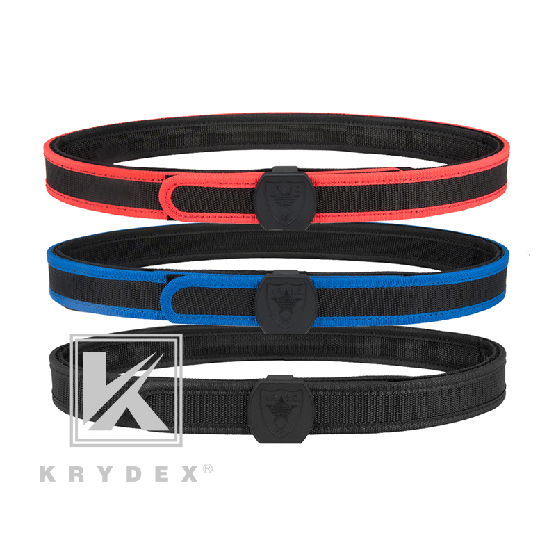KRYDEX IPSC Tactical Shooting Belt USPSA IDPA Inner & Outner Double Competition High Speed Belt For Shooting Airsoft Accessory