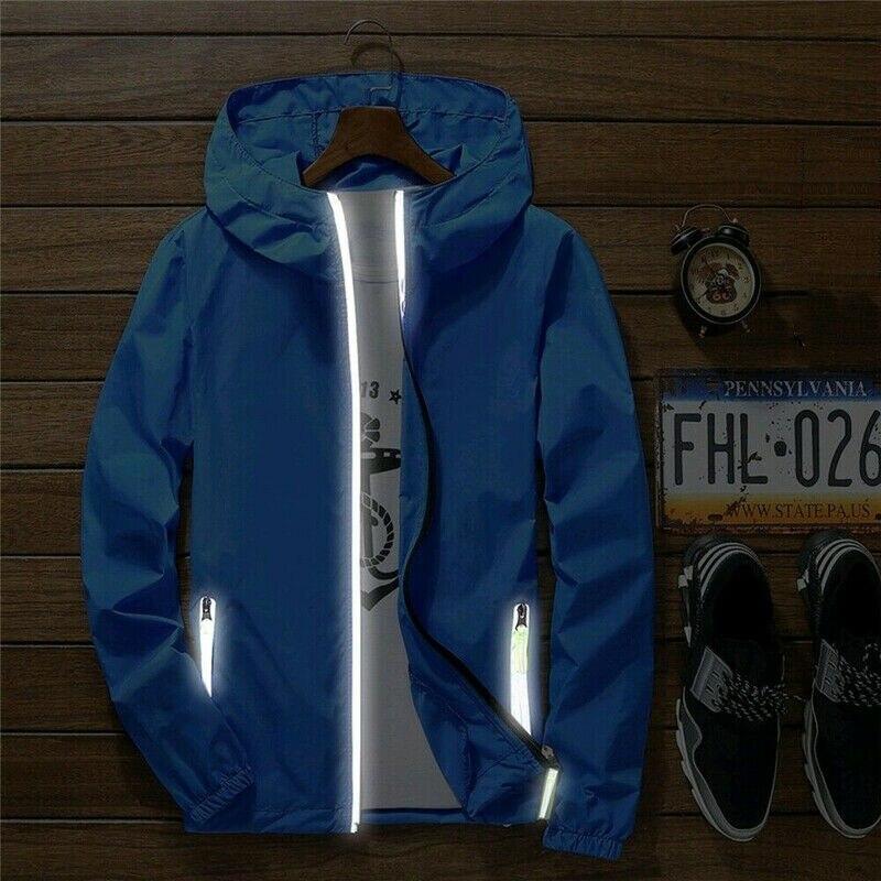 Men Waterproof Wind Breaker Coat Zipper Hoodie Jacket Quick Drying Sport Outwear Northface Trench