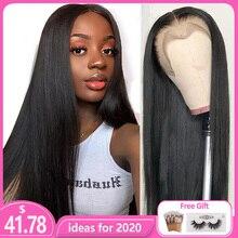 Парики из натуральных волос на кружеве, Remy, прямые волосы, предварительно выщипанные волосы, Детские волосы, 8 26 дюймов, 13x4, 150% натуральные человеческие волосы, парик на кружеве L