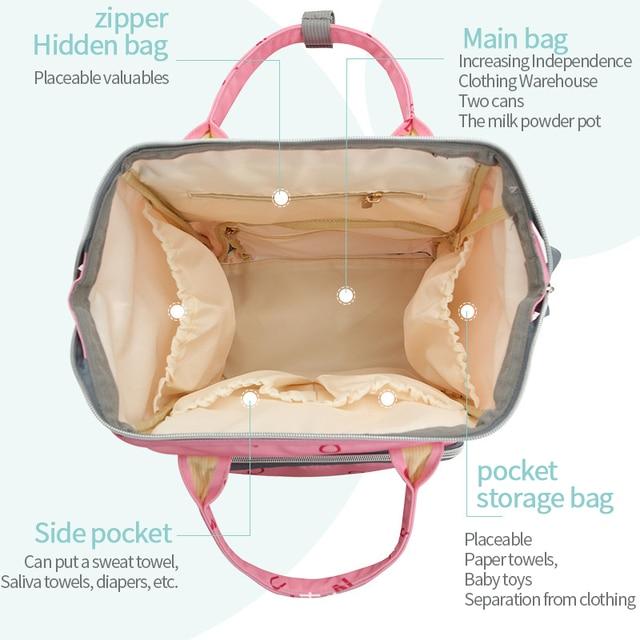 Disney Large Capacity Maternal Diaper Bags USB Baby Stroller Mummy Nursing Care Organizer Backpack Travel Letter Pattern New Bags Kids