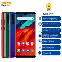 Blackview A80 Pro 6.49 Smartphone 4GB 64GB Octa Core Android 9.0 4G LTE Mobile Phone Quad Rear Cameras Global Version 4680mAh