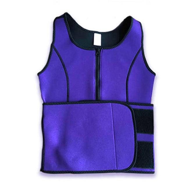 Women Waist Sealing Female Slimming Sheath Corset Belly Sweat Belt With Zipper Fashion Corset Belt Chest Support Body Shaping 5