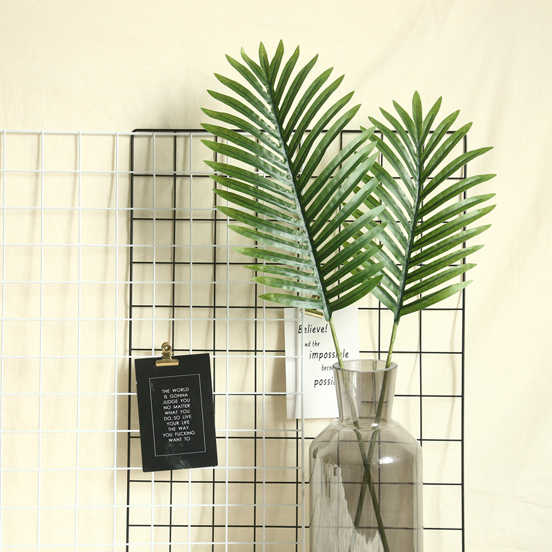 Green Scutellaria Palm Leaves Flower Arrangement Accessories DIY Wedding Plants Wall Artificial Fake Plants