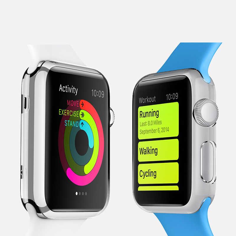 Ультратонкий защитный чехол для всего тела и встроенный протектор экрана для Apple Watch 42 мм ТПУ силиконовый защелкивающийся протектор