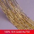 Роскошное ювелирное изделие XF800 из натурального золота 18 К, белая цепочка из желтого золота Au750, свадебный подарок для женщин и девочек, D206