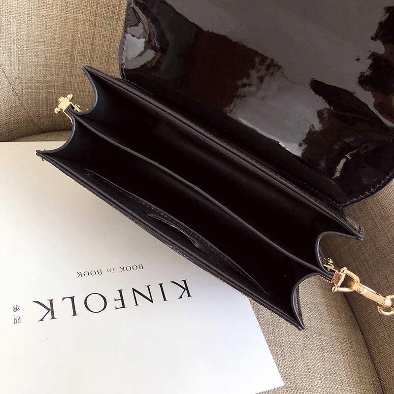 2019 bolsos de hombro de cuero de PU de leopardo para mujer, bolsos de cadena negros y Borgoña para mujer, bolsos de moda para niña