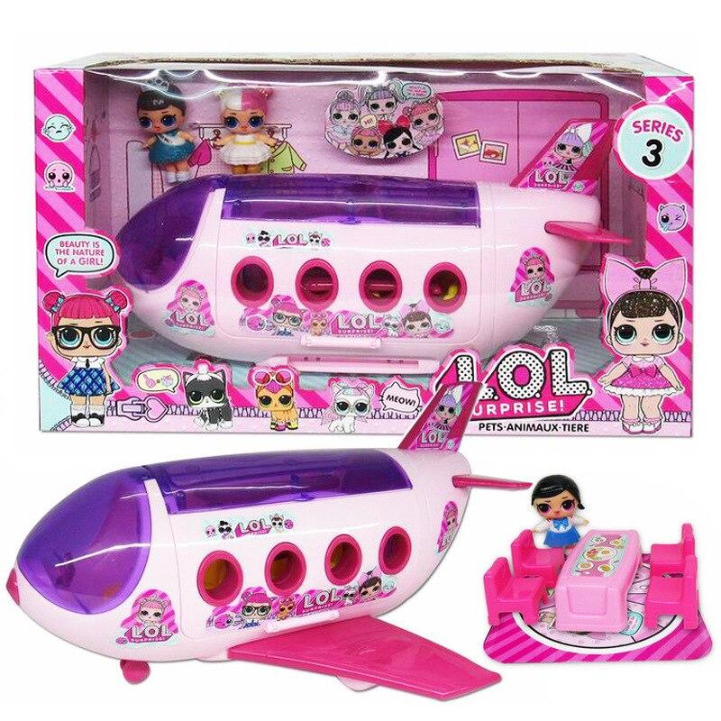 LoL Surprise Doll Airplane Picnic Ice Cream Car Slide Handbag Villa Action Figure Model Dolls Toys Kids Girl Boy Birthday Gifts