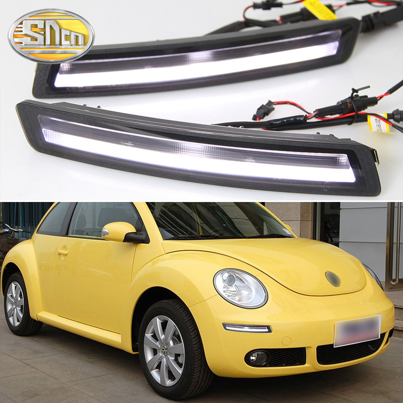 2x LED DRL Daytime Running Lights+Yellow Turn Signal For VW Beetle 2007 ~ 2010