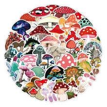 10/50 pçs cogumelo adesivos diy cor aquarela mão-pintado scrapbook álbum caderno diário cartão decoração adesivos decalque