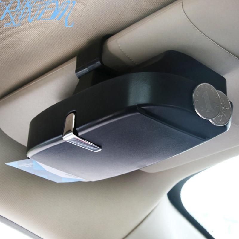 Caja de almacenamiento para gafas de coche, funda para gafas de sol para SEAT ST Ibiza Leon 1 2 3 Toledo Arosa Alhambra Exeo Supercopa Mii Altea
