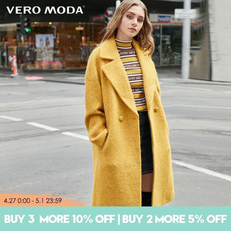 Vero Moda Women Long Woolen winter alpaca coat Jacket  319427507