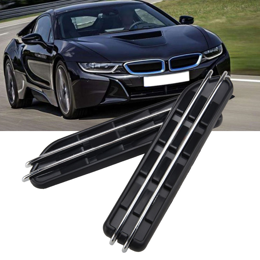 2PCS For E39 E60 F10 Black M Side Fender Air Flow Vents Grille Grill For M Series