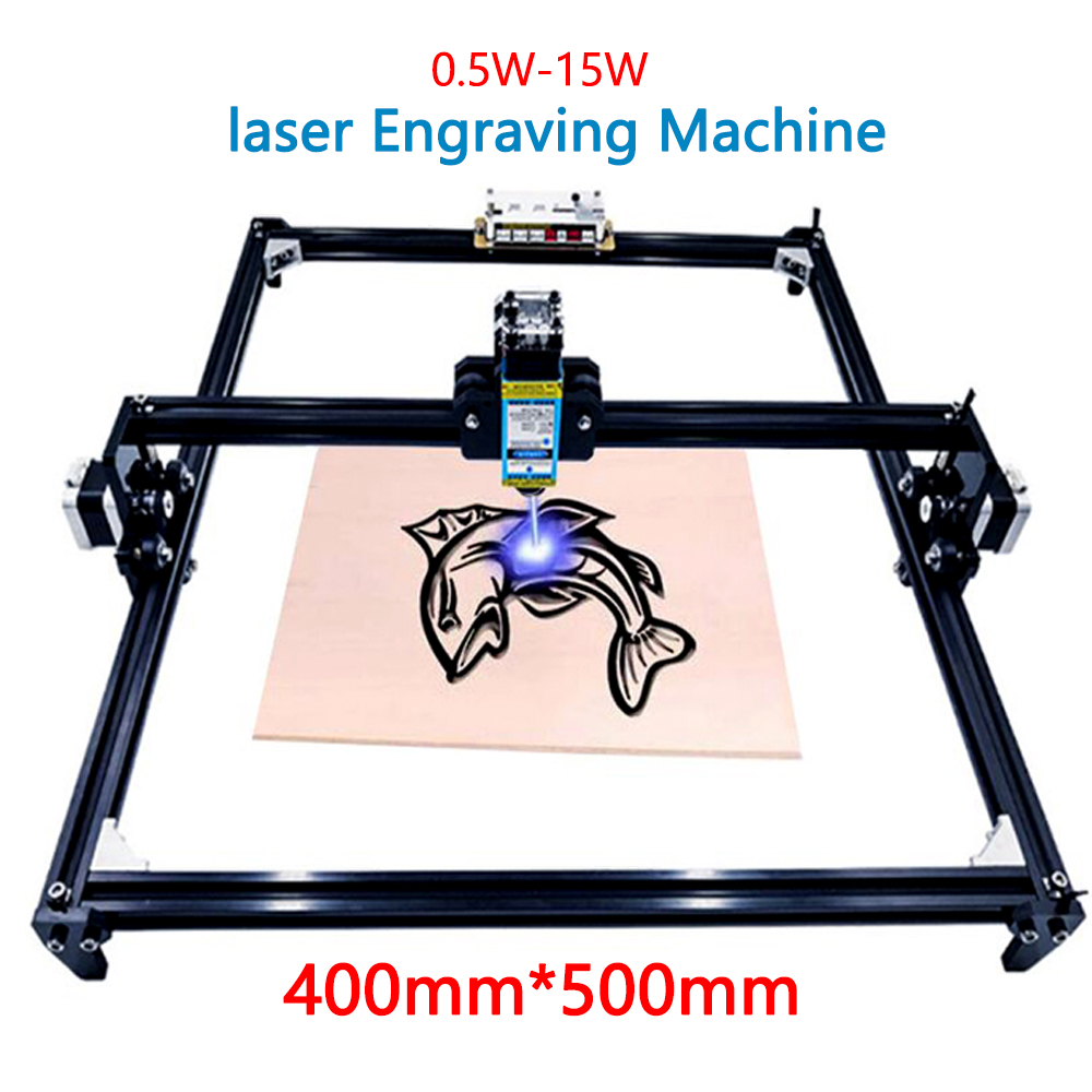 40X50cm Laser Engraving Machine 2 Axis DIY MINI Laser Engraver For Carving Wood Desktop Laser Engraving Printer Power 0.5W - 15W