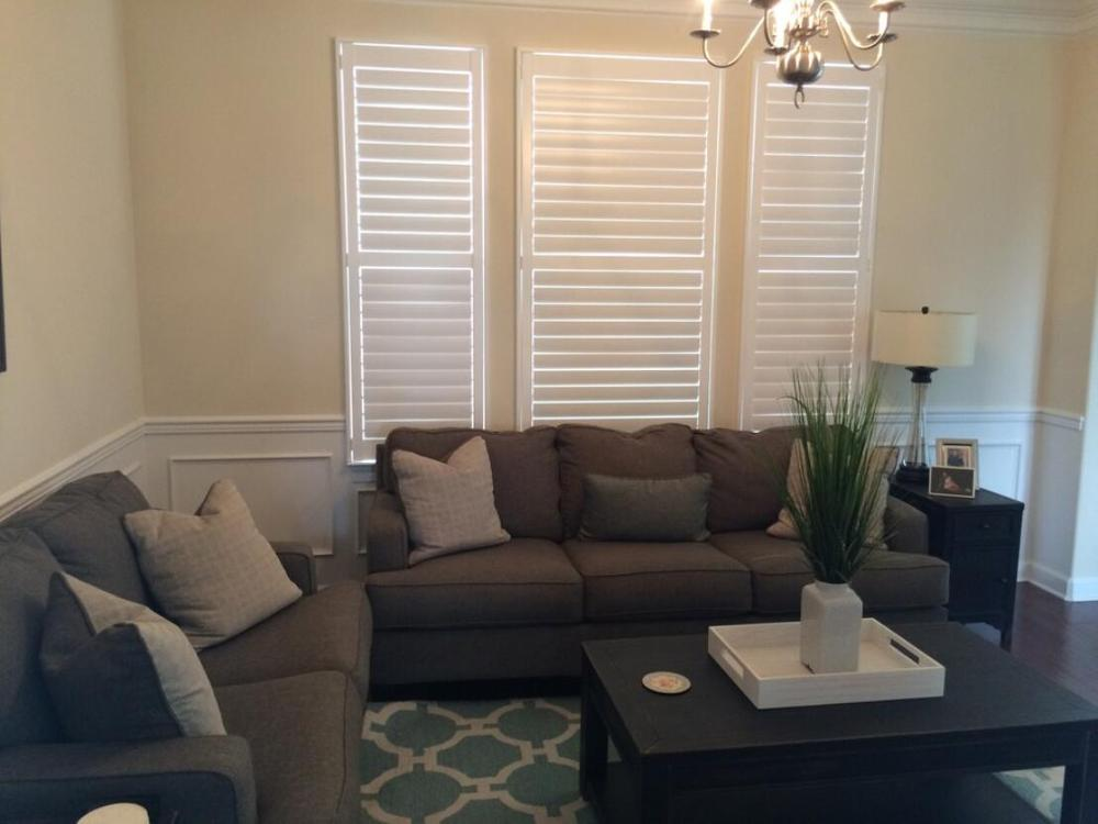 Custom Basswood Plantation Shutters Wooden Blinds Solid Wood Shutter Louvers PS251