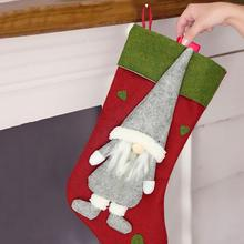 PATIMATE Christmas Stocking Tree Decoration Merry For Home 2019 Navidad Gifts Happy New Year 2020