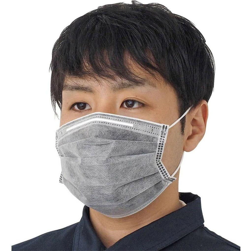 5pcs/10pcs/20pcs/25pcs/50pcs Gray Color Mask 4 Layers Ear Mount Dust Mask  Activated Carbon Breathable Mouth Mask Anti Dust Haze