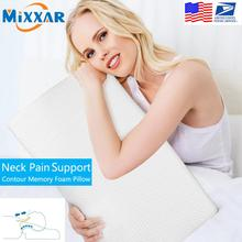 Dropshipping Contour Memory Foam Pillow Orthopedic Sleeping Pillows Ergonomic Cervical Pillow for Neck Pain Side Sleepers