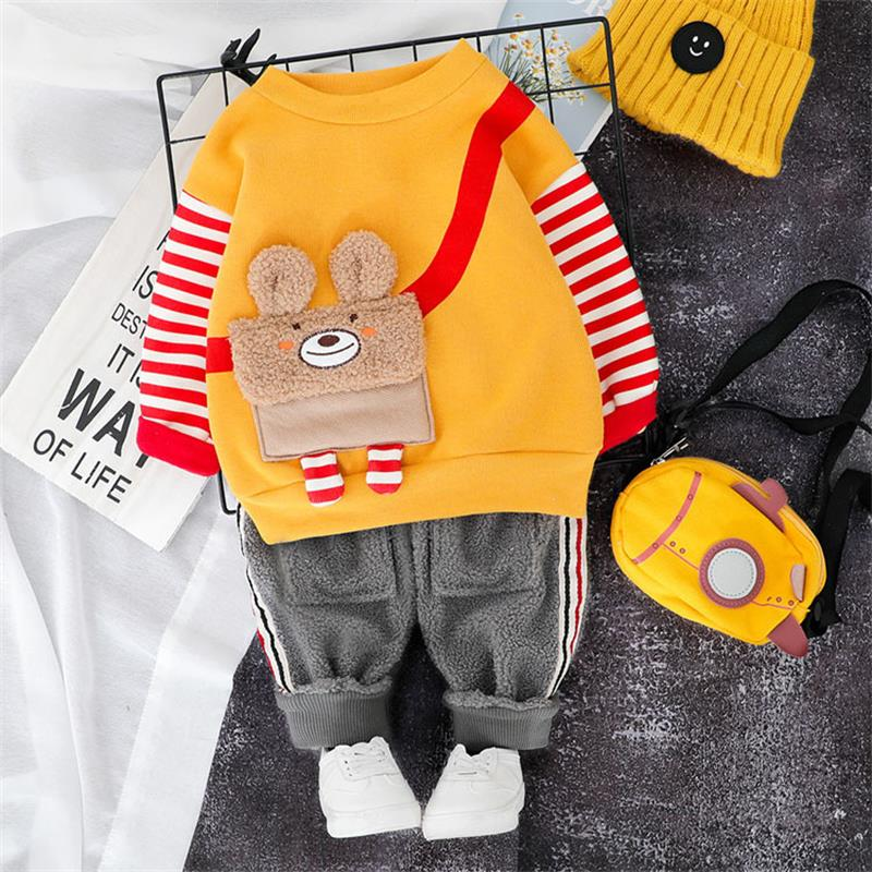 Toddler Clothing Sets 2019 Baby Boys Girls Clothing Sets Winter Autumn Cartoon  Tops Pants Kids Costume