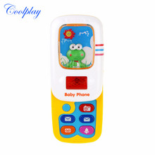 Electronic Phone Kids Baby Slider Mobile Phone Musical Sound