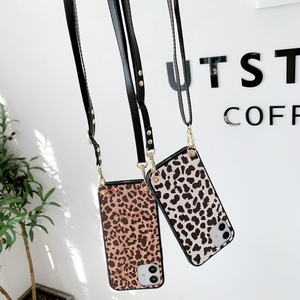 Image 1 - Fashion Luxe Leopard Telefoon Case Crossbody Ketting Koord Lanyards Touw Voor Samsung Galaxy A31 A51 A71 A70 A50 A10 E m10 Cover