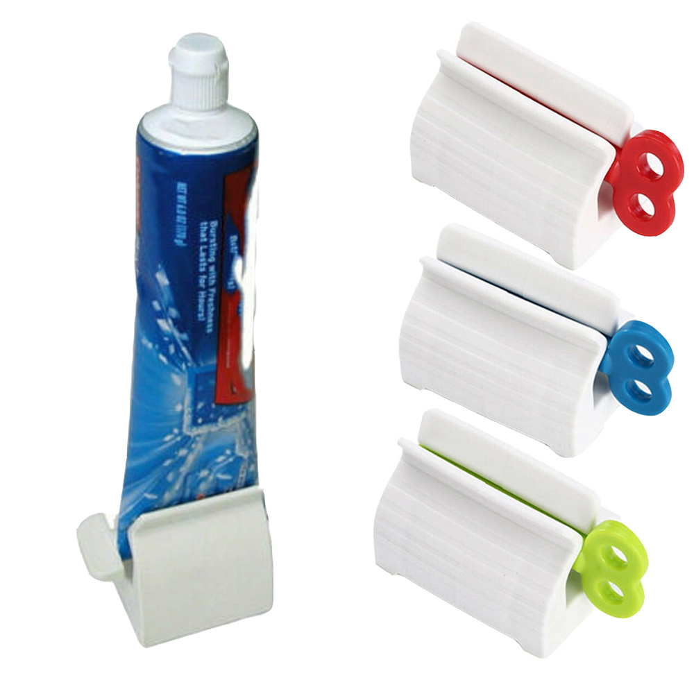 Rolling Tube Toothpaste Squeezer Dispenser Toothpaste Seat Holder Stand Roller