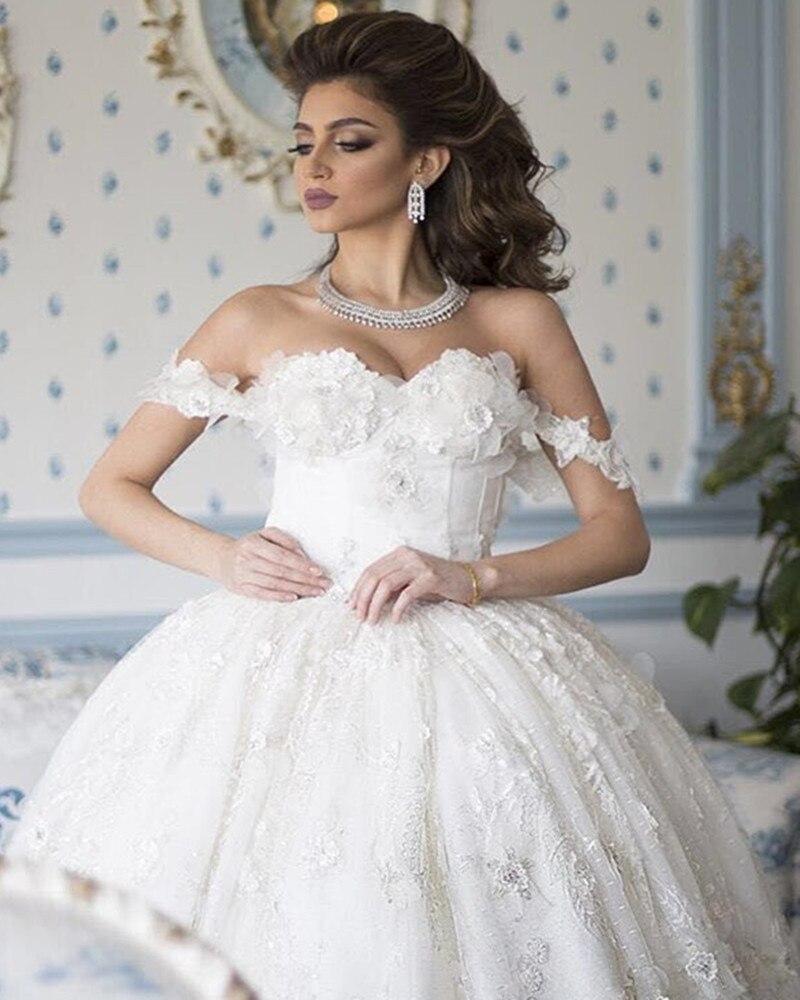 Plus Size Ball Gowns Lace Appliques Vestido De Noiva Robe De Mariee 2018 Sweetheart Bridal Gown Mother Of The Bride Dresses