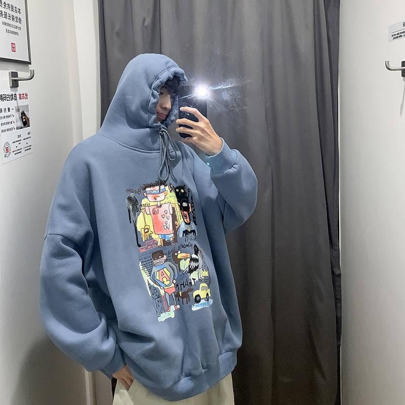Men Harajuku Hoodies Sweatshirts Oversized 2019 Men Women Streetwear Cool Print Hoodie Male Hip Hop Winter Japan Hoodies Male