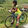Mulher profissão triathlon terno roupas ciclismo skinsuits conjunto do corpo rosa roupa de ciclismo macacão das mulheres triatlon kits conjunto feminino ciclismo Uma variedade de macacões femininos especiais de alta 10