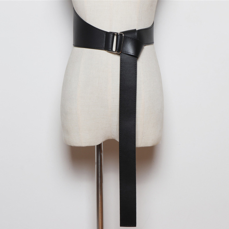 2020 Spring Stylish Waistband New Design Corset Belt Fashion PU Leather Asymmetry Belts For Women Wide Belt Female Belt ZK602