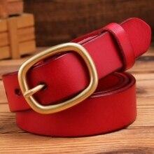 2020 مصمم حزام للنساء عالية الجودة الفاخرة 100% ريال الحبوب الكاملة جلد طبيعي الجمل راعية البقر 28mn الأحمر الجمل موضة 125 سنتيمتر