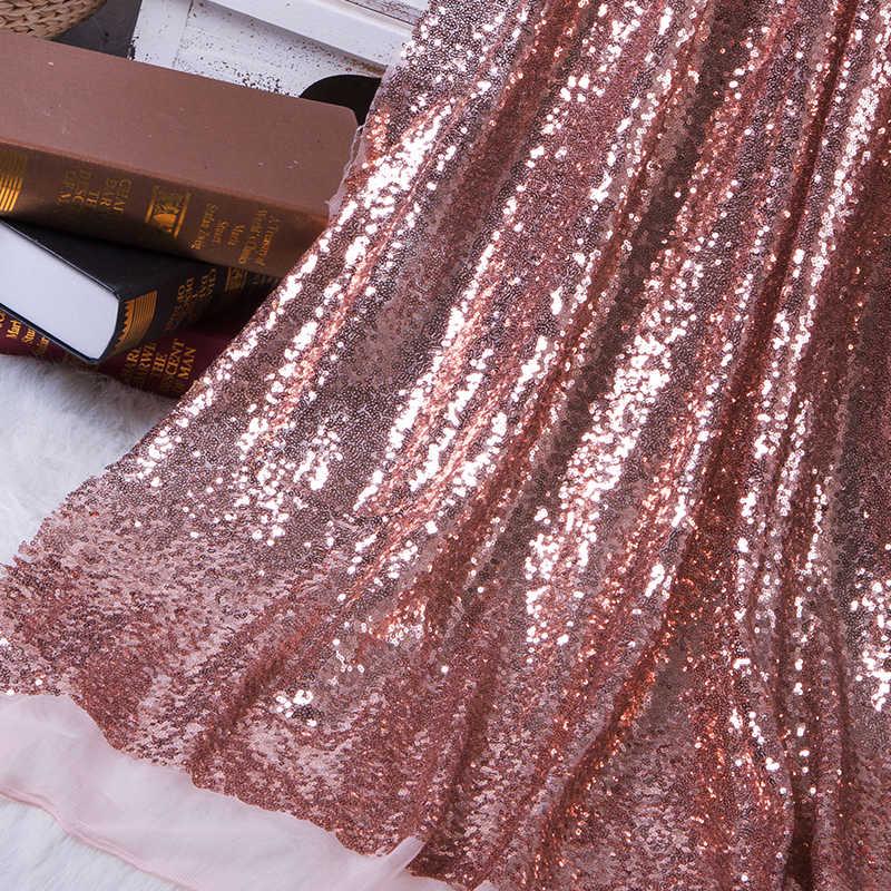130x50 ซม.DIY 3mm Paillette เลื่อมผ้า Sparkly Gold Silver Glitter ผ้าสำหรับเสื้อผ้า STAGE PARTY งานแต่งงาน home Decor