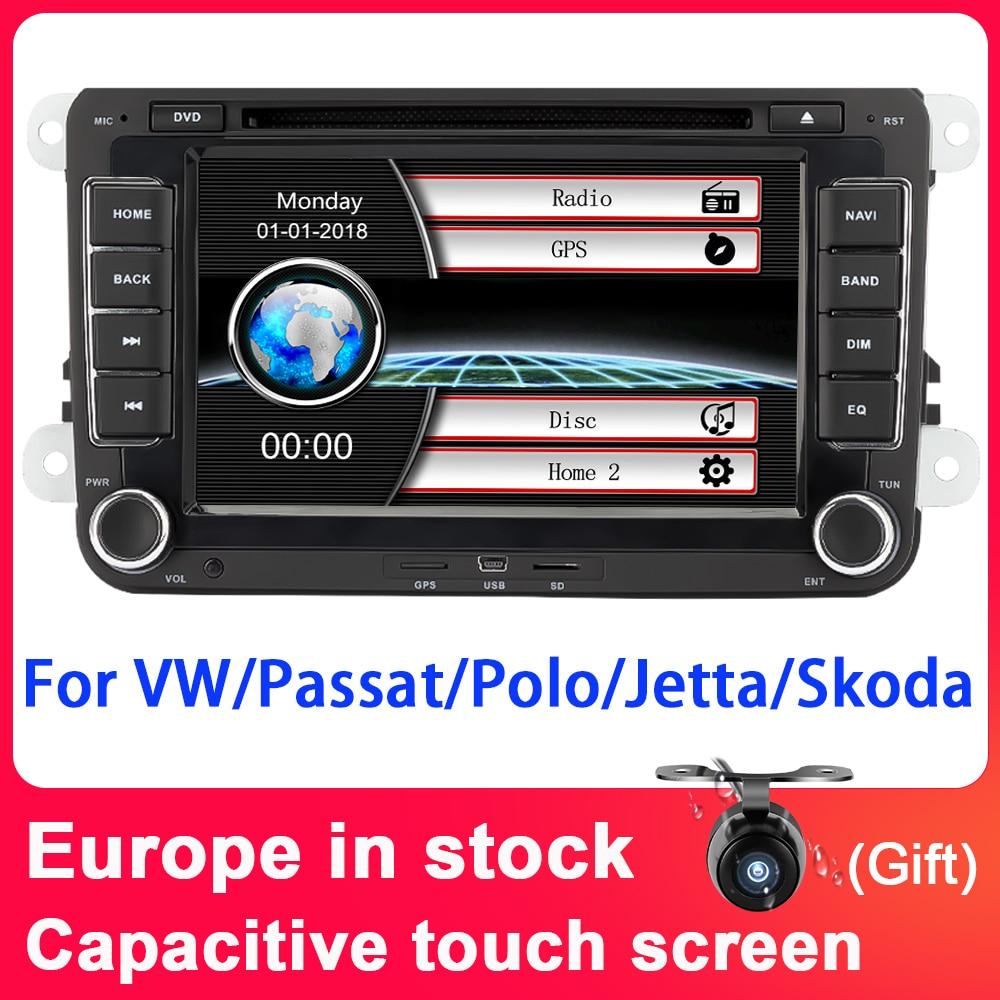 Eunavi Штатная магнитола системный блок автомагнитола магнитола для VW Volkswagen GOLF 6 Polo New Bora JETTA PASSAT B6 SKODA 2din с навигацией 2 din dvd мультимедиа автомоби...