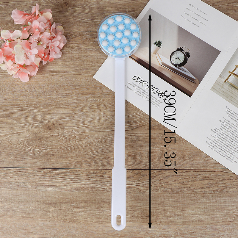 Bath Brush Long Handled Lotion Oil Cream Applicator Body Leg Back Massager Bath Brush Plastics Long Handle Bath Brush Hot Sale 5