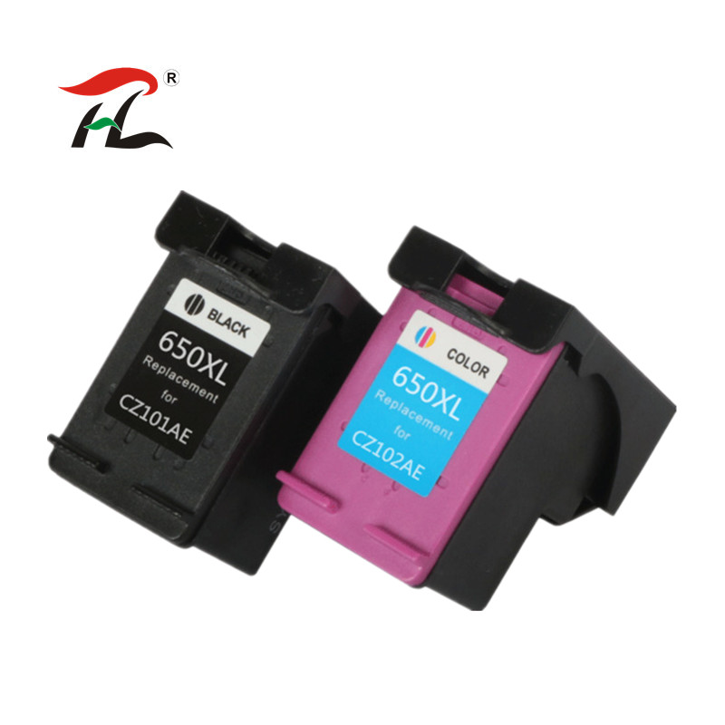 YLC 1set 650XL Compatible Ink Cartridge for HP650 650XL for <font><b>HP</b></font> Deskjet Advantage 1015 1515 2515 2545 2645 <font><b>3515</b></font> printer image
