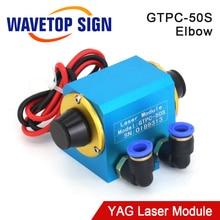 WaveTopSign JiTai GTPC 50S 50W מרפק YAG לייזר מודול GTPC 50S 90 מעלות לייזר דיודה משאבת להשתמש עבור YAG לייזר מכונה
