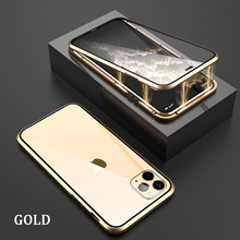 Magnetic protective case For iPhone 12 Mini 11 Pro Max Xs XR 8 7 6 Plus SE 2020 with Double-sided tempered glass back cover case