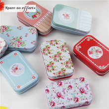 8 Pieces/lot Beautiful Flower Storage Box Small Metal Tin