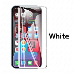 Image 4 - 100/10PCS vetro temperato HD/nero/bianco/idrogel acceso per Iphone 11 12 PRO MAX protezione dello schermo X XR XS MAX 6 7 8 Plus vetro dellobiettivo