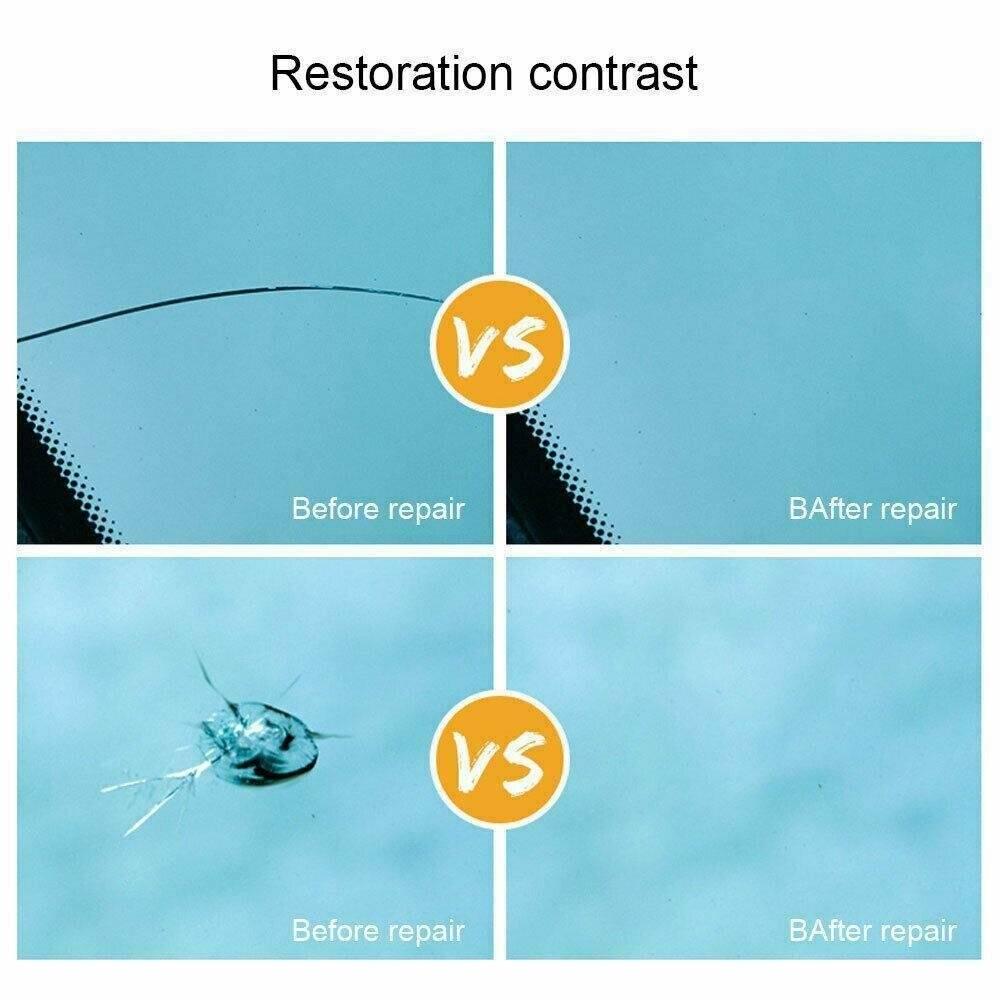 Restore Glass Repair Tools Set Window Accessories Auto Car Chip Corrector