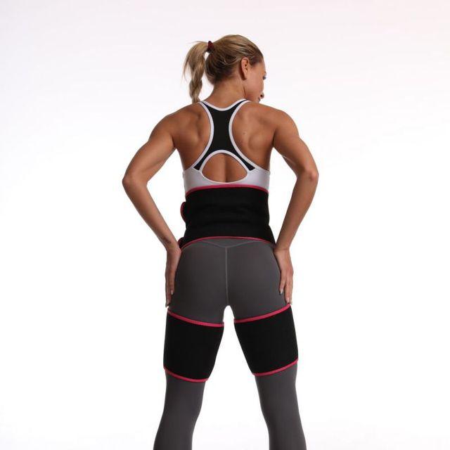 Sweaty Waist Support Belt Widening Yoga Fat Burning Belly Belt Running Leggings Stuffy Sweat Heat Shaping Body Shaper Belt 3