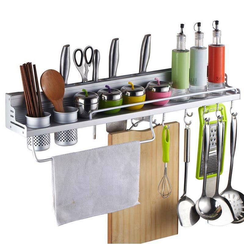 Manufacturers Direct Selling Alumimum Kitchen Shelves Kitchen Hanger Storage Shelf Kitchen Storage Rack Knife Rest Special Offer