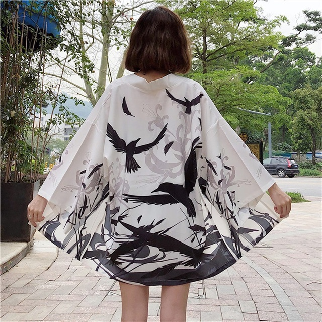 Kimono Cardigan Womens Tops And Blouses Japanese Streetwear Women Tops Summer 2020 Long Shirt Female Ladies Blouse Women Clothes 3