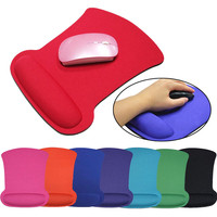 VOBERRY Gel Wrist Rest Resistant Computer Notebook Soft Edge Seamed Mouse Pad Office Rubber Fabric Mat Random Delivery