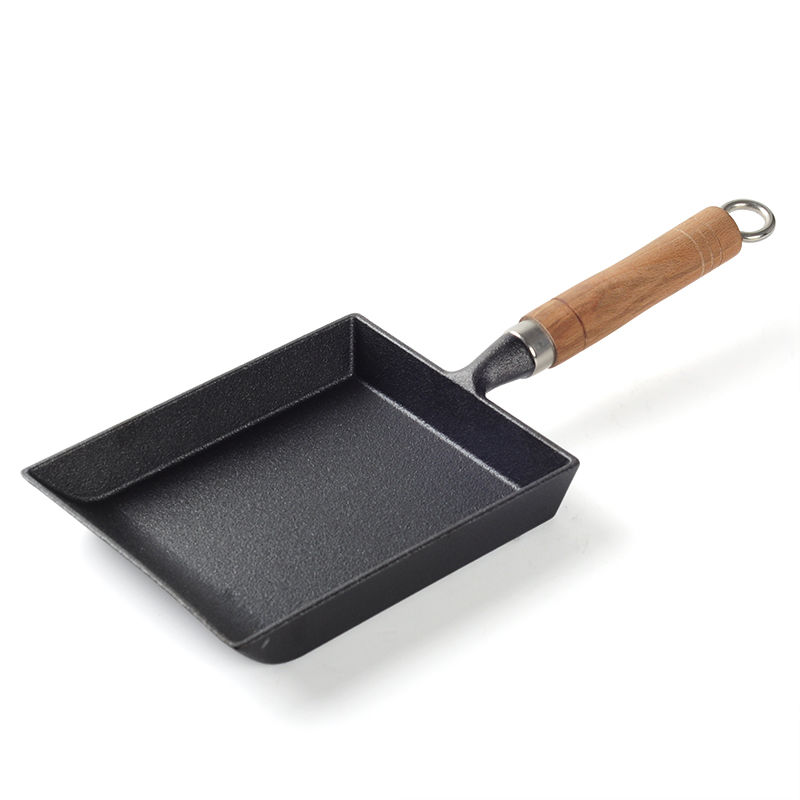 Egg Roll Frying Pan Square Omelette Pot Uncoated Non-stick Pan Cast Iron Pan Frying Pan  Kitchen Pots And Pans Cast Iron Skillet