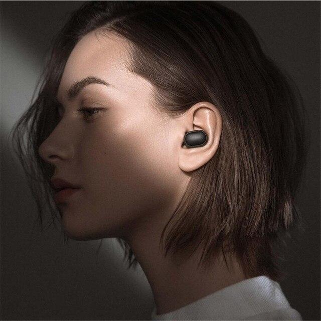 Novo xiaomi redmi airdots s bluetooth 5.0 sem fio fone de ouvido tws esquerda direita modo baixo lag bluetooth 5.0 redução ruído fone de ouvido