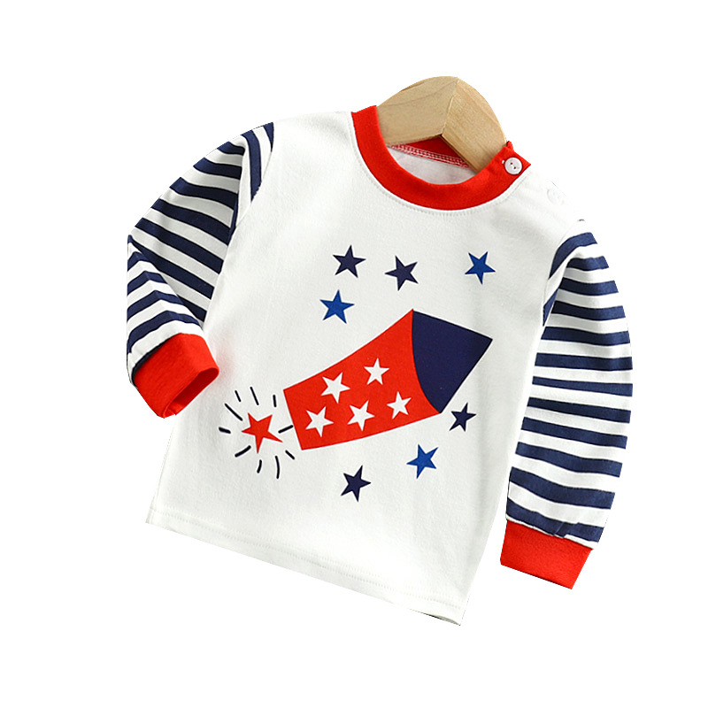 Boys Girls Cartoon Long Sleeve T Shirts Summer Baby Boys Cotton Clothes T Shirts Children Printed Tops Tees Kids Clothing 18M-5T