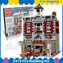 2313 Uds 15004 Fire Brigade salón DIY modelo de bloques de construcción auténtica estación de juguete vintage de fuego Compatible con Lago