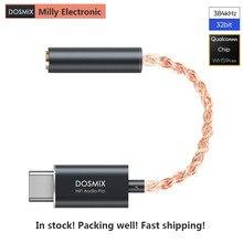 במלאי Dosmix HiFi DAC אוזניות מגבר פרו סוג C כדי 3.5mm אודיו Lossless מתאם כבל