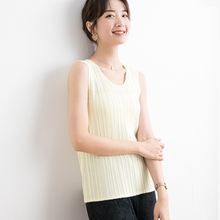 Fold Bottoming White vest Autumn and winter Inside lap 2019 New pattern Arbitrary collocation Round collar Women sweater стоимость