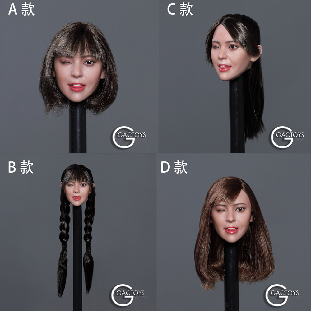 """1//6 Scale Variety Fashion Hairstyle Head Sculpt Model For 12/"""" Female Figure Body"""